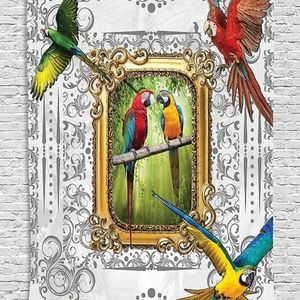 Tapestry Parrot Frame Print Wall Hanging Backdrop